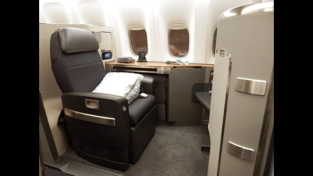 American Airlines B777 300ER First Class New York to London