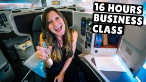 CATHAY PACIFIC BUSINESS CLASS VIETNAM to NYC (wing business class lounge review)