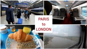 Eurostar Paris to London via underwater tunnel, First Class train trip 4K