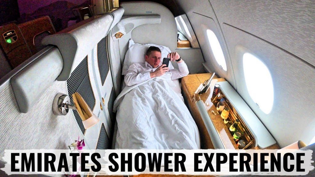 LUXURIOUS EMIRATES A380 FIRST CLASS amp SHOWER EXPERIENCE