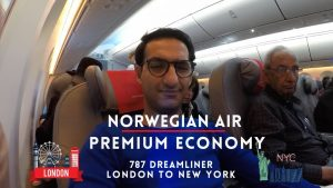 Norwegian Air Premium Economy Class Cabin - Trip Review - London LGW to New York JFK - Worth It!