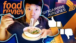 Singapore Airlines BUSINESS CLASS Food Review San Francisco to Singapore