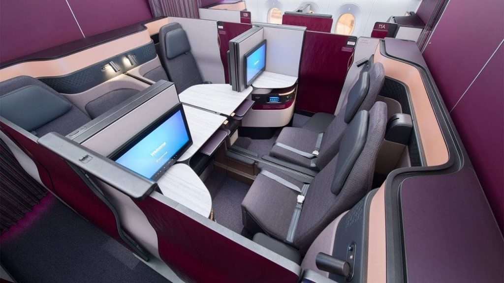 World's best Business Class: Qatar Airways Qsuite A350 from Frankfurt to Doha (AMAZING!)