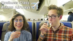 Business Class Flight Asiana Airways London to Seoul to Tokyo