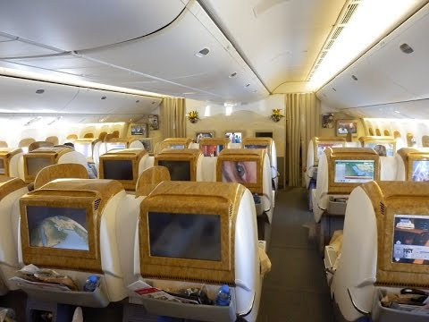 Emirates Boeing 777-300ER business class Dubai to Brussels