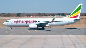 Ethiopian Airlines Boeing 737 Business Class flight from Victoria