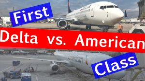 FIRST CLASS with Delta Air Lines vs American Airlines