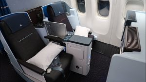 KLM Boeing 777 Business Class from Tanzania to Amsterdam GREAT