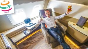 RIESIG! Die Singapore Airlines First Class Suites in der A380 SIN-HKG | YourTravel.TV