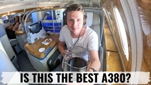 Review EMIRATES A380 LUXURIOUS Business Class amp Bar Experience