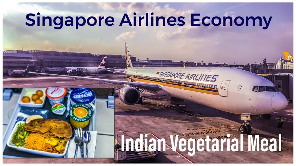 Singapore Airlines Economy Class Indian Vegetarian Special Meal