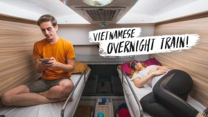 Vietnam FIRST CLASS Overnight Sleeper Train Ninh Binh to