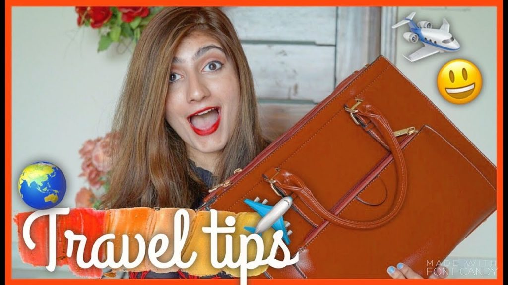 WHATS in my TRAVEL bag? Travel advice on traveling ALONE! | Anushae Says