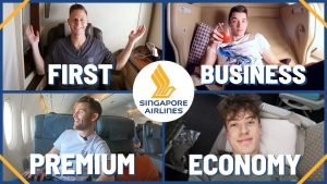 AMAZING Singapore Airlines Flight In All Four Classes First Class