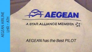 Aegean Airlines Review London Heathrow T2 to Athens