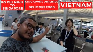 Ho Chi Minh, Saigon to Singapore | Best Airline Delicious Food | Vietnam Backpacking Trip