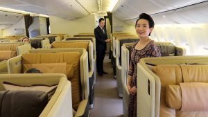 Singapore Airlines Boeing 777 Business Class from Singapore to Phuket