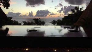 Sunset in the Seychelles at Maia Luxury Resort